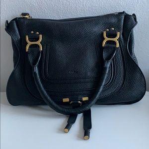 Chloé Marcie Medium Dark Navy Handbag